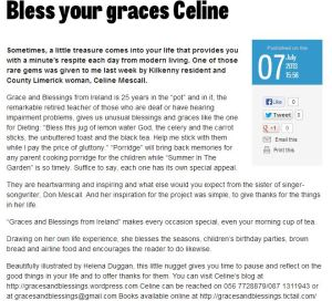 Bless your graces Celine